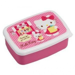 Microwavable Bento Lunch Box Hello Kitty with 2 removable cups