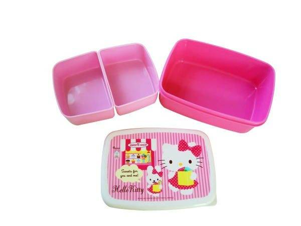 microwavable bento lunch box hello kitty with 2 removable cups for. Black Bedroom Furniture Sets. Home Design Ideas