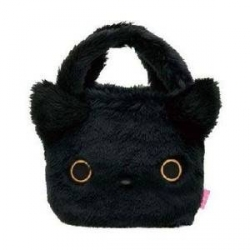 Multi Purpose San-X Kutushitanyanko Plush Furry Tote Bag