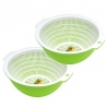 Kitchen Vegetable Washing Bowl and Strainer Buy 1 Get 1 Free