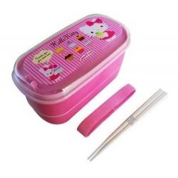Japanese 2-Tier Hello Kitty Bento Lunch Box