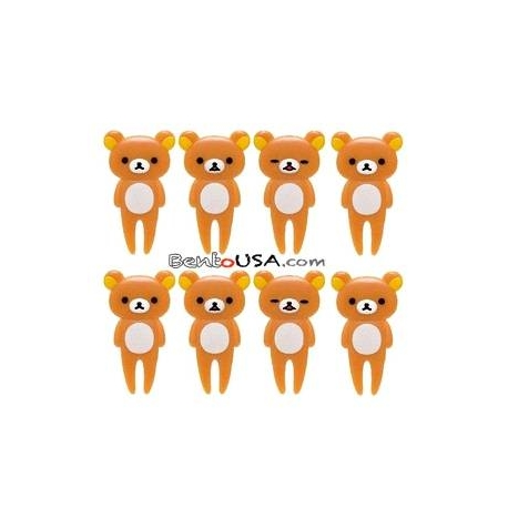 San-X Rilakkuma Bento Fun Lunch Accessories Food Pick 8 pcs