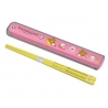 Rilakkuma Chopstick and Case Pink And Yellow
