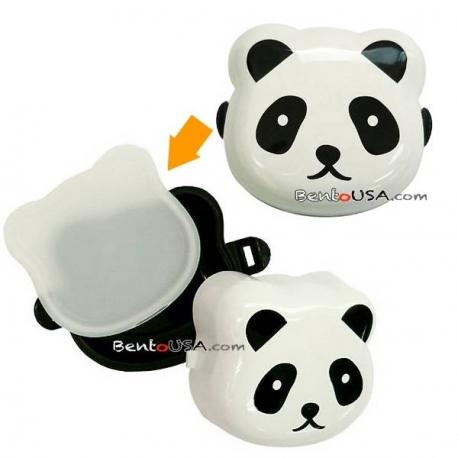 2 Compartments Onigiri case Bento Snack Box Panda