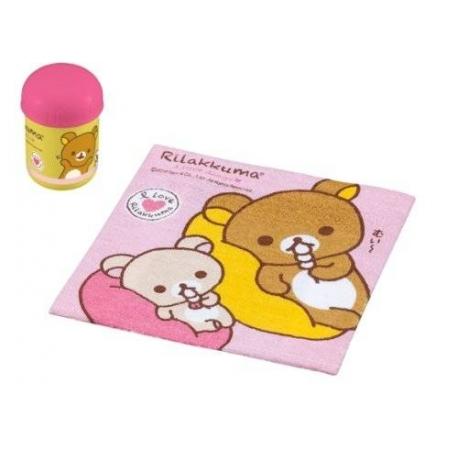 Portable Bento Oshibori Hand Towel Set with Rilakkuma