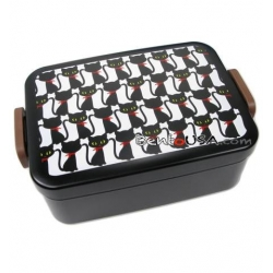 Sandwich Box Deep Bento Lunch Box Black Cat