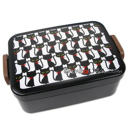 hakoya sandwich box deep bento lunch box black cat for bento box. Black Bedroom Furniture Sets. Home Design Ideas