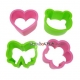 Japanese Bento Decoration Ham Cheese Cutter Set Cute Bow