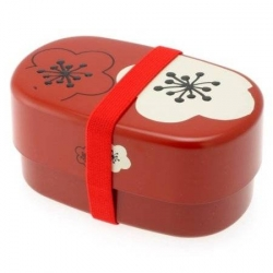 Microwavable Japanese Bento Box Lunch Red Plum
