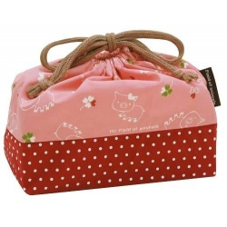 Bento Lunch Box Cloth Bag Happy Pig