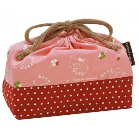 Bento Lunch Box Cloth Bag Happy Pig