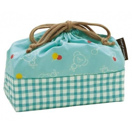Bento Lunch Box Cloth Bag Bear Blue