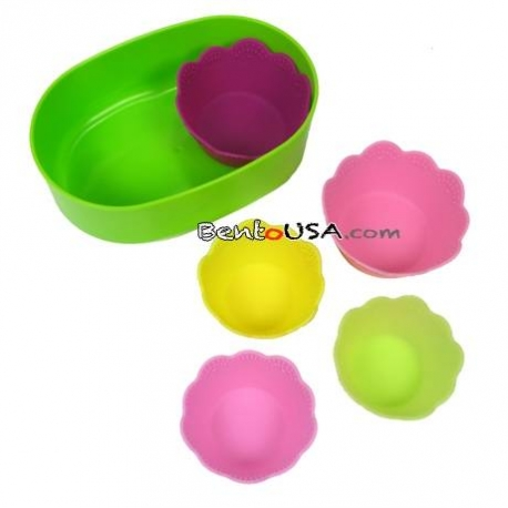 Japanese Bento Silicone Food Cup 5pc 2 Sizes