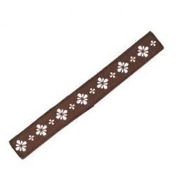 Japanese Bento Box Elastic Belt Bento Strap Brown Flower