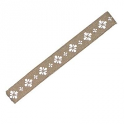 Japanese Bento Box Elastic Belt Bento Strap Light Brown Flower
