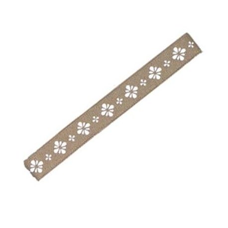 Japanese Bento Box Elastic Belt Bento Strap Light Brown Flower