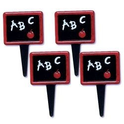 Food Decorating Pick School ABC Black Board