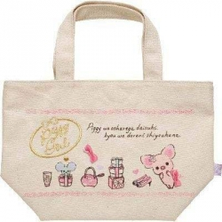 SAN-X PINK PIGGY GIRL BENTO LUNCH BAG