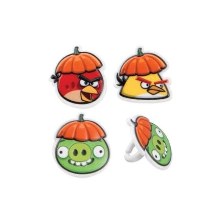 Food Decorating Party Ring Topper Angry Birds Halloween