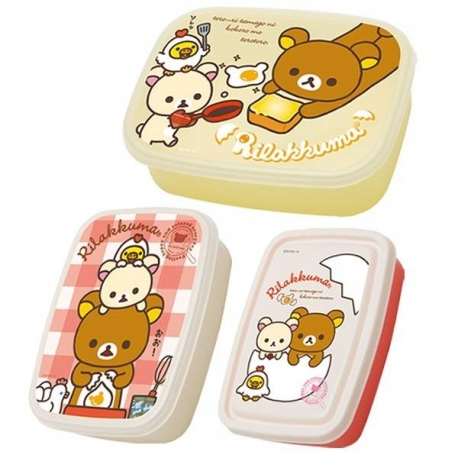 San-X Nested Lunch Bento Box set Rilakkuma Bear