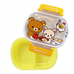 Removable 2 Sections Tight Food Storage Bento Lunch Box Bear