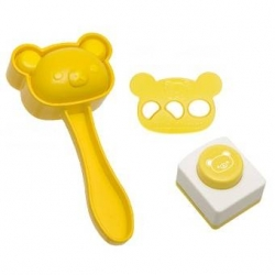 Bento Rice Mold and Seaweed Nori Puncher Set Rilakkuma Bear