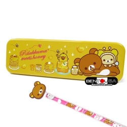 Rilakkuma Tin Pencil Pen Case with Pencil