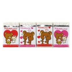 Cute Stationery Rilakkuma Bear Pencil Eraser set of 4