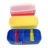 3 Bento Lunch Boxes with Removable Dividers