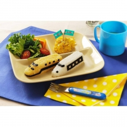 3D Super Express Train Bento Rice Mold and Seaweed Nori Cutter Set