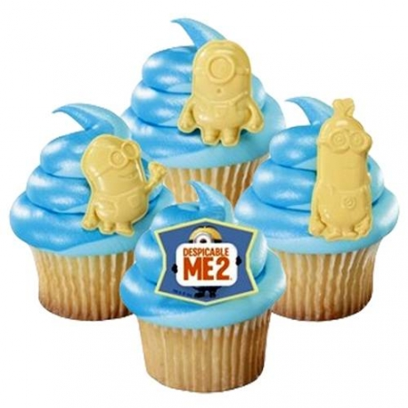 Food Decorating Ring Despicable Me Minions Cupcake Rings