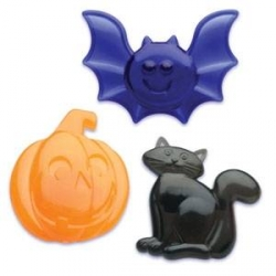 Food Decorating Party Ring Halloween Pumpkin Bat Cat Rings
