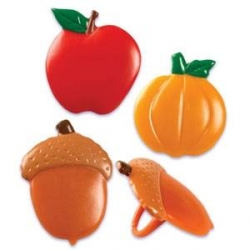 Food Decorating Party Ring Autumn Fall Harvest Apple Pumpkin