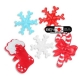 Food Decorating Party Ring Winter Boot Snowflake Candy Cane