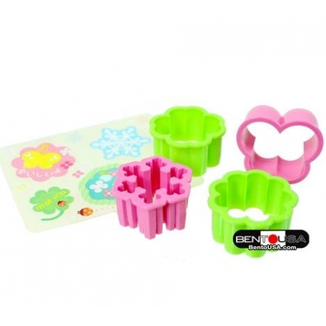 Japanese Bento Decoration Cutter Set with Baran Snowflake Butterfly