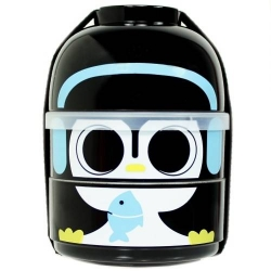 cuteZcute 2 tier Bento Lunch Box Set Baby Bento Buddies - Baby Cool Penguin