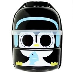cuteZcute 2 tier Bento Lunch Box Set Baby Bento Buddies - Baby Cool Penguin