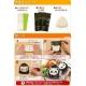 Japanese Bento Onigiri Seaweed Nori Cutter Set Panda Wrap