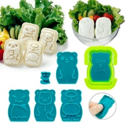CuteZcute Mini Pocket Sandwich Maker and Egg Mold Kit - Animal Palz