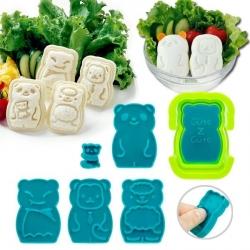 CuteZcute Mini Pocket Sandwich Maker and Egg Mold Kit - Animal Palz