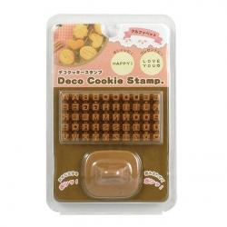 Alphabet Deco Cookie And Fondant Stamp Set