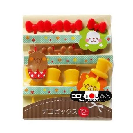 Japanese Bento Cute Long Food Pick Hat Ear Bow 12P