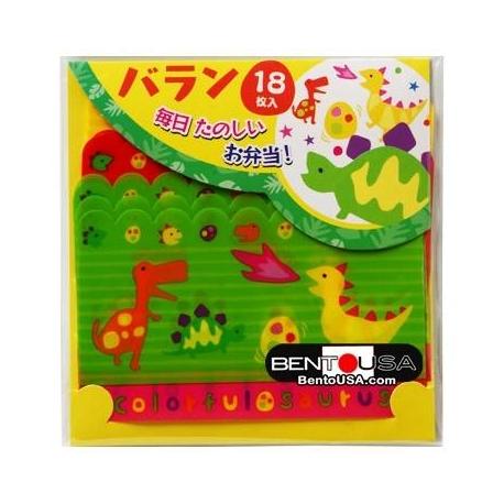 Japanese Bento Food Separator Sheet Baran Dinosaur 18P