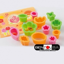 Value Set Bento Decoration Ham Cheese Cutter Set 12pcs with Baran Flower
