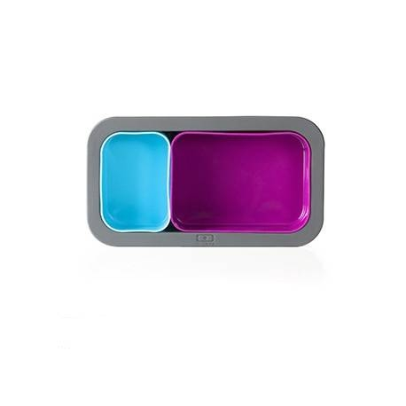 monbento Silicone Cup and Mold - Fuchsia and Light Blue