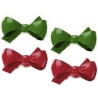 Food Decorating Ring Red and Green Bow Christmas
