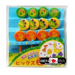 Japanese Bento Cute Food Pick Dinosaur Dino Eggs 12P