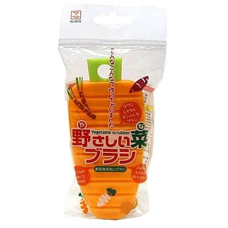 Cute Flexy Vegetable Caret Shape Scrubber