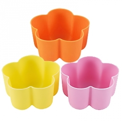 Bento High Quality Silicone Colorful Food Cups - Flower