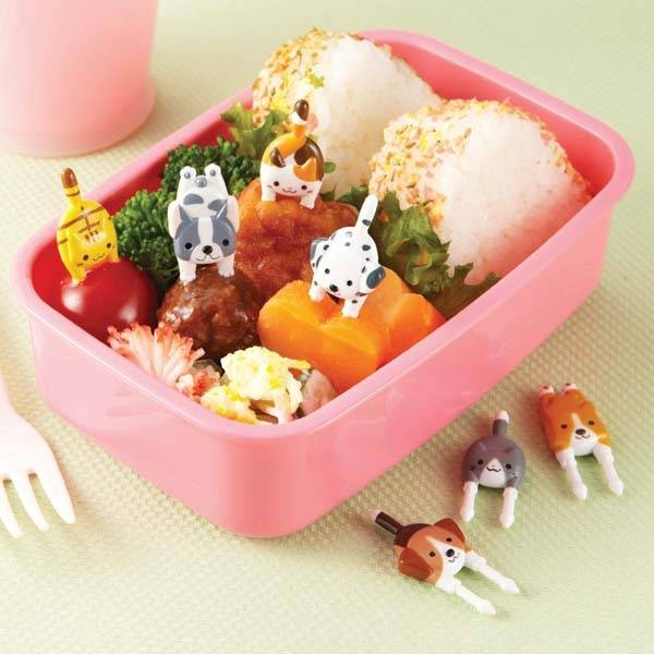 japanese bento box accessories food pick cute dogs and cats for fo. Black Bedroom Furniture Sets. Home Design Ideas